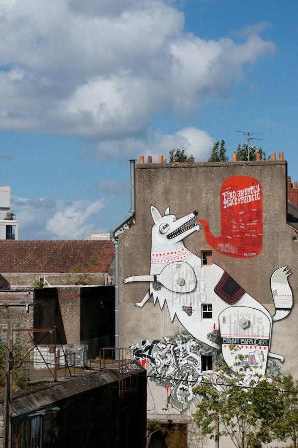 Street art Nantes Graffiti Pedro Rame Persu