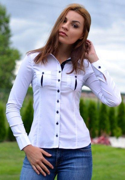 Koszula Damska Biała 3539