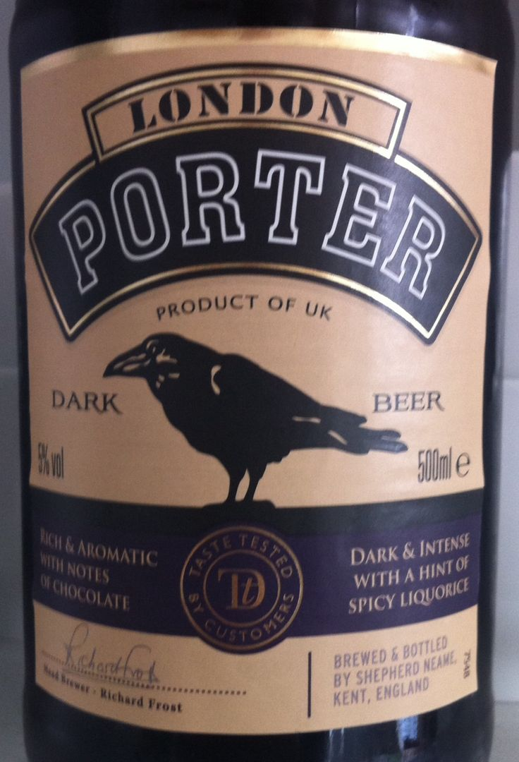 Shepherd Neame London Porter ABV 5%. A regular favourite. Easy drinking - not bad for Sainsbury's! Kent. 7/10.