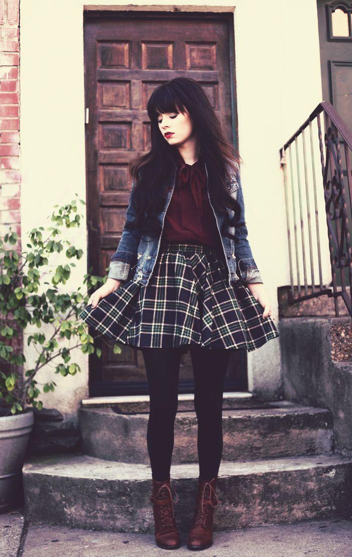 Burgundy. Skirt. Love.                                                                                                                                                     More