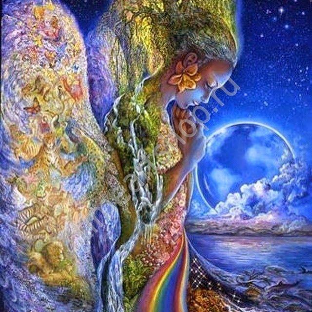 Мать природы.художник Джозефина Уолл (Josephine Wall). картина раскраска по №, размер 40х50см.