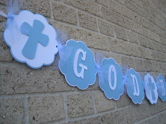 Dios bendiga a bandera bandera de bautismo por CreativePartyCrafts