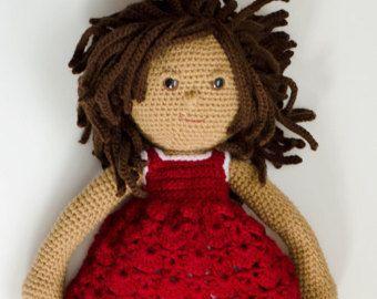 Crochet Doll Pattern Amigurumi PDF  instant download   Marcy