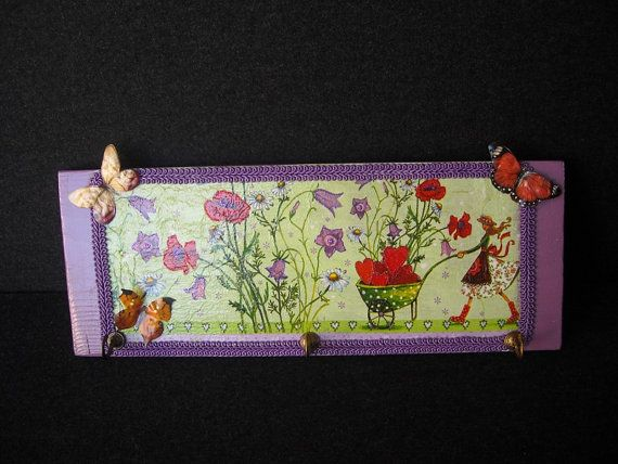 Pretty purple wooden hanger by HandmadeByFiona on Etsy, $30.00