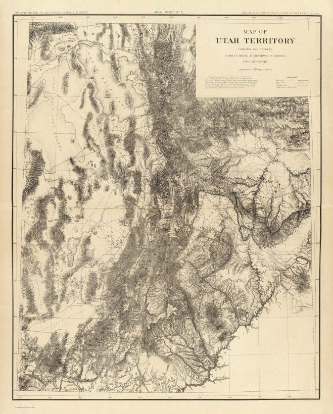 Une carte topographique de l'Utah - La boite verte