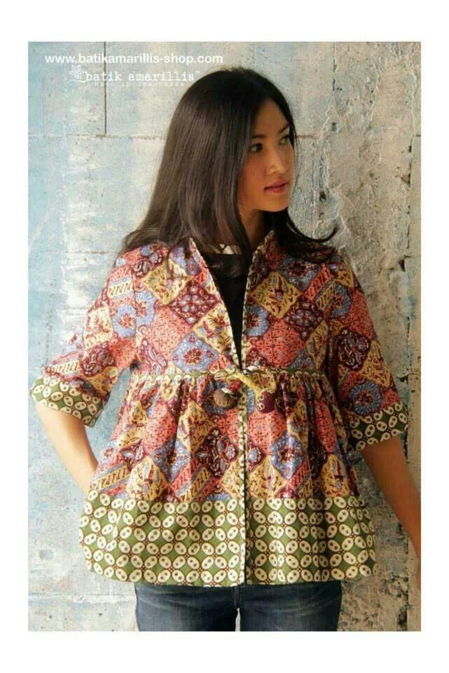 Batik amarillis's Romancia jacket. #Batik #tenun #kebaya