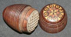 A Victorian Tunbridge ware nutmeg grater - Objects of Virtu
