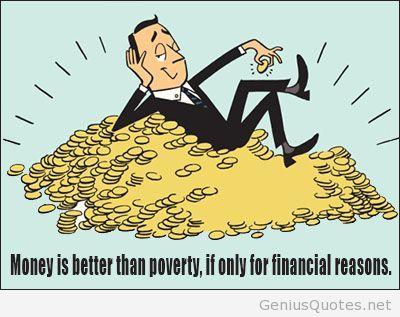 Funny money cartoon quote
