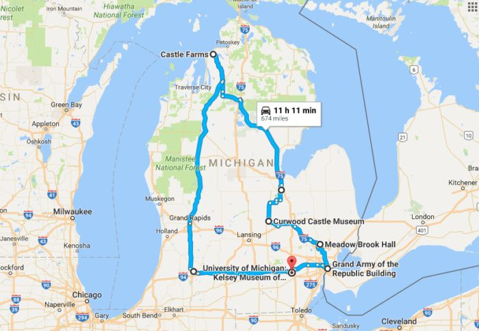 The Ultimate Road Trip To 8 Beautiful Castles In Michigan