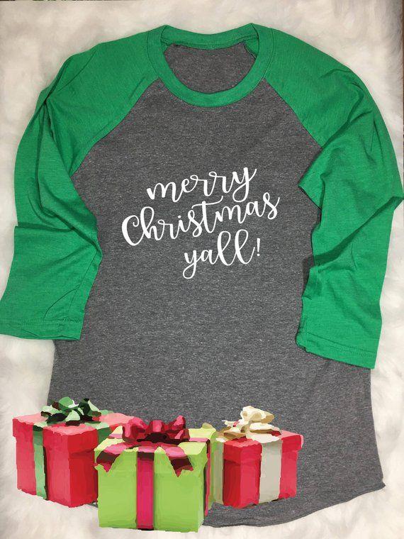 Christmas Shirt Raglan Christmas Gift Family Shirts Christmas Tees