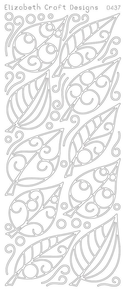 Elizabeth Craft Designs Peel-off Stickers Leaves
