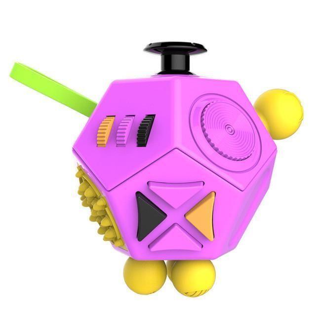 12 Sides Fidget Cube 9 Color With Images Fidget Cube Stress Cube Fidget Cube 12 Sides