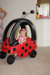 "Roper Round-Up: Ladybug ""Bug-Mobile"" Cozy Coupe Makeover"