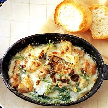 じゃがいもとほうれん草のチキングラタン | 牧野直子さんのグラタン・ドリアの料理レシピ | プロの簡単料理レシピはレタスクラブニュース