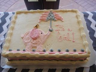 Pink U0026 Grey Baby Shower   Elephant Cake