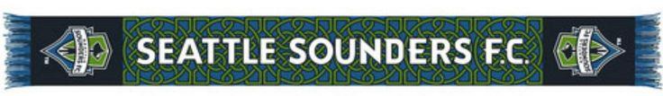 "Seattle Sounders Ruffneck Blue Celtic Knot Knit Acrylic Scarf 7"" x 60"""