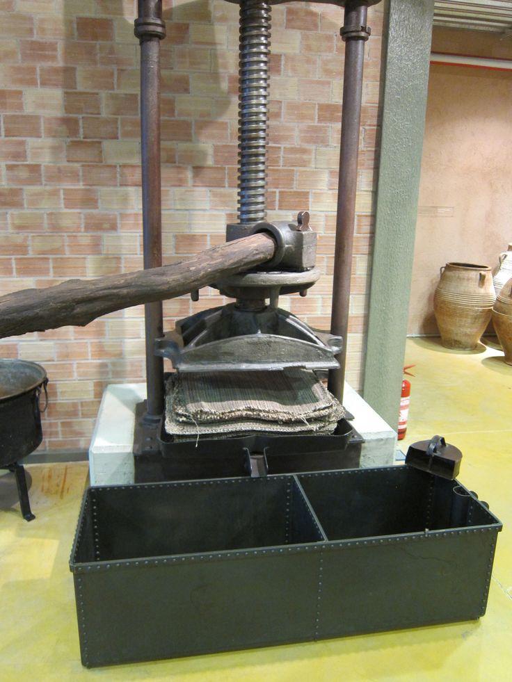 Olive press and recipient