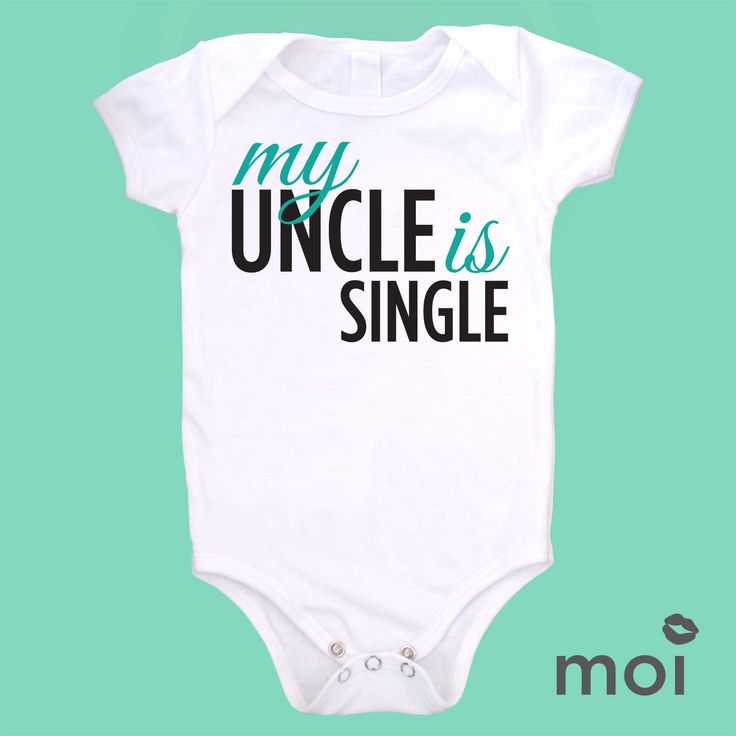 It's so hard to find a bodysuit nowadays that shows how much an uncle really loves his nephew and niece or how much the little one loves their uncle! Show everyone this love by buying these adorable and original baby boysuit uncle designs. *We carry this item in various sizes! Visit our shop for more great selections! (baby, onesie, cute, funny, bodysuit, infant, newborn, clothing, saying, gift)