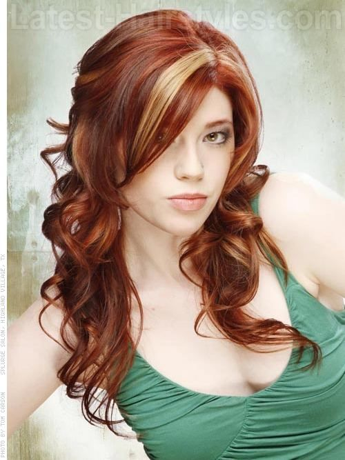 Red Rebel with Dramatic Highlights. Love the chunky pieces. I'm feeling this myself.