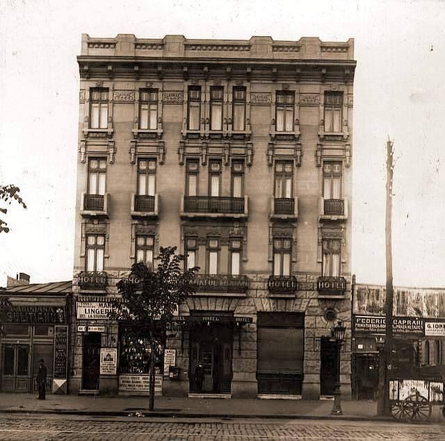 Hotel Traian, pe Calea Griviței. Bucureștii acum 100 de ani.