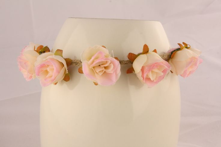 Light Pink Floral Head Piece