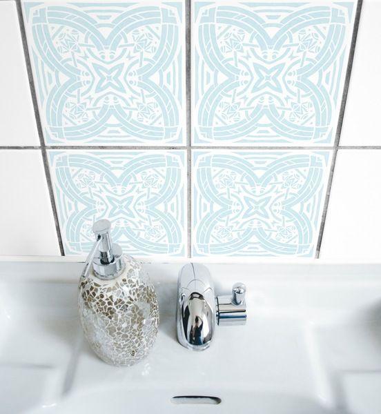 NEO+01+>+Fliesen+Aufkleber+Sticker+Bad+Küche+von+BOUBOUKI+individual.interior.items+auf+DaWanda.com