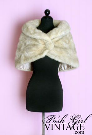 What every pinup needs to go over her tight cocktail dress--a mink wrap. I can has please.