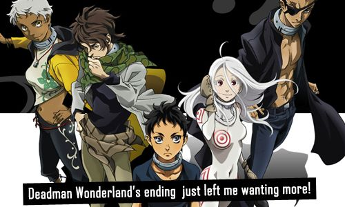 Anime/manga: Deadman Wonderland Characters: Karako, Nagi, Ganta, Shiro, and Senji, YES! That's why I'm gonna read the manga some day!