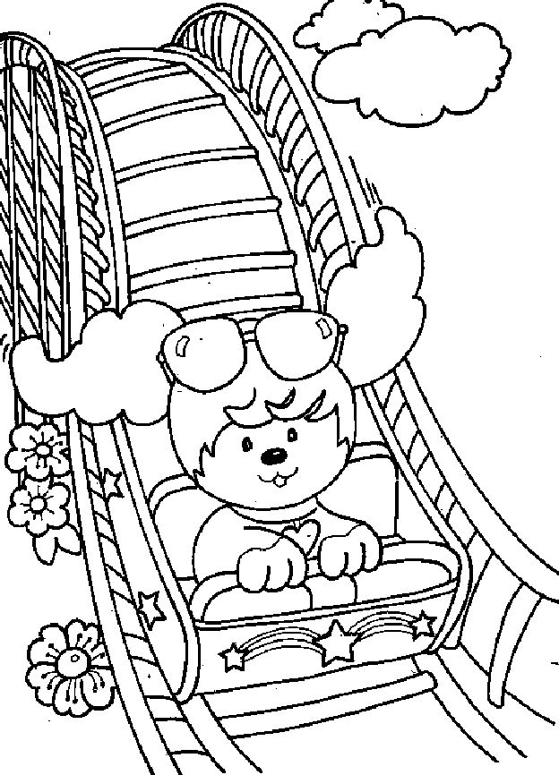 Poochie Coloring Page Uncedu Mshirlen Roller CoasterColoring