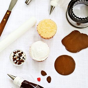 How to Make Pug Cupcakes | What You'll Need | MyRecipes.com So cute! Would be great for Russell's birthday!