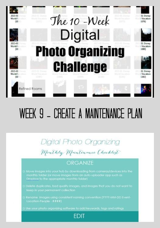 Learn how to create your photo maintenance plan in the Digital Photo Organizing Challenge on the Refined Rooms blog   #digitalphotoorganizing