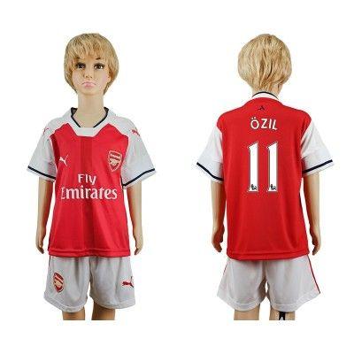 Arsenal Fodboldtøj Børn 16-17 Mesut Ozil 11 Udebane Trøje Kortærmet.  http://www.fodboldsports.com/arsenal-fodboldtoj-born-16-17-mesut-ozil-11-udebane-troje-kortermet.  #fodboldtrøjer