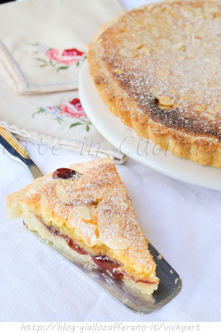 Crostata mandorle e marmellata con crema al burro - FATTO
