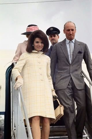 Mrs. John Kennedy, London April 1966.