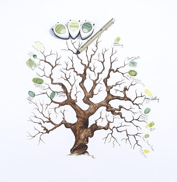Открытка дерево счастья шаблон, днем