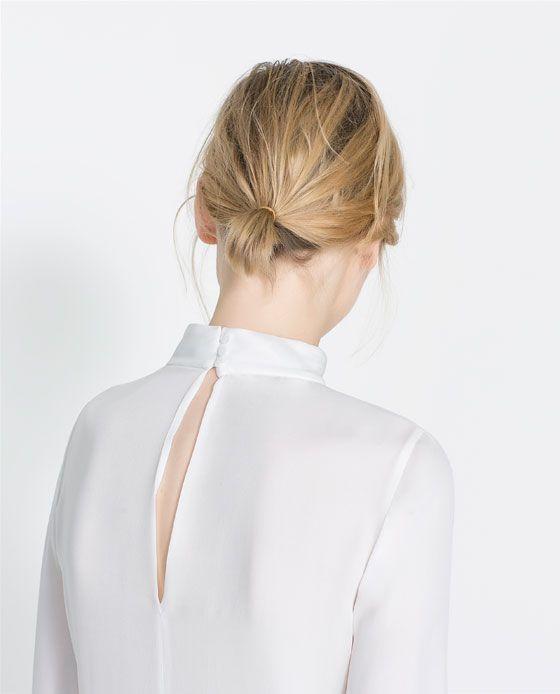 Zara High Neck Silk Blouse 106