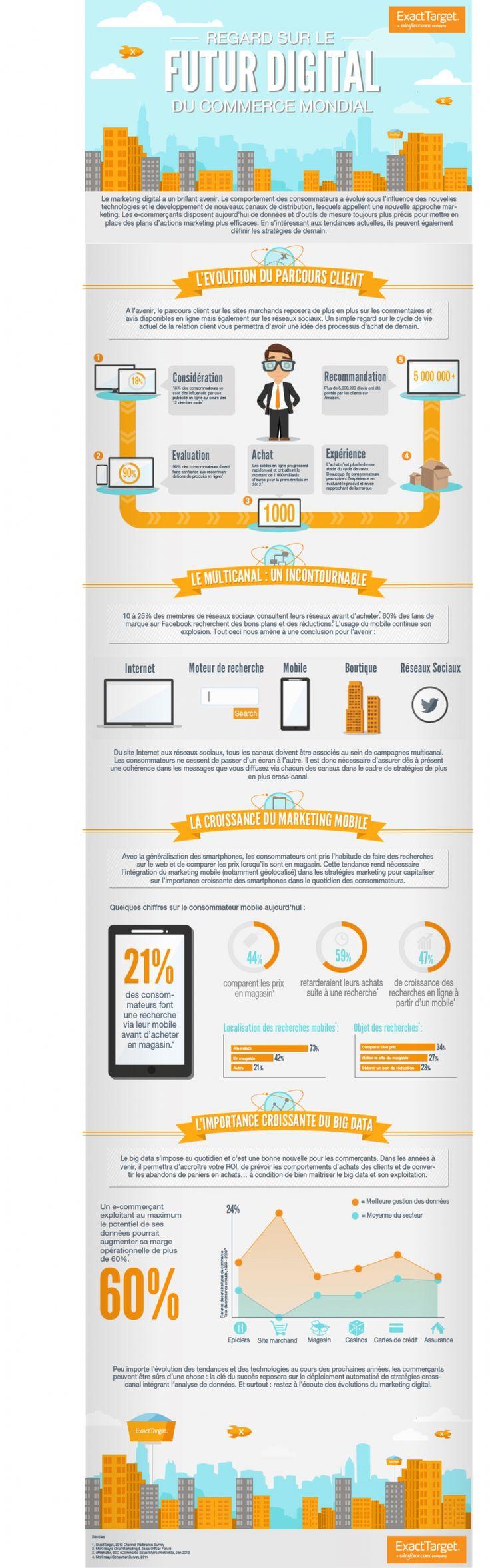 Le marketing digital voué à un brillant avenir http://www.e-marketing.fr/Infographie/Regard-sur-le-futur-digital-du-commerce-mondial-54199.htm