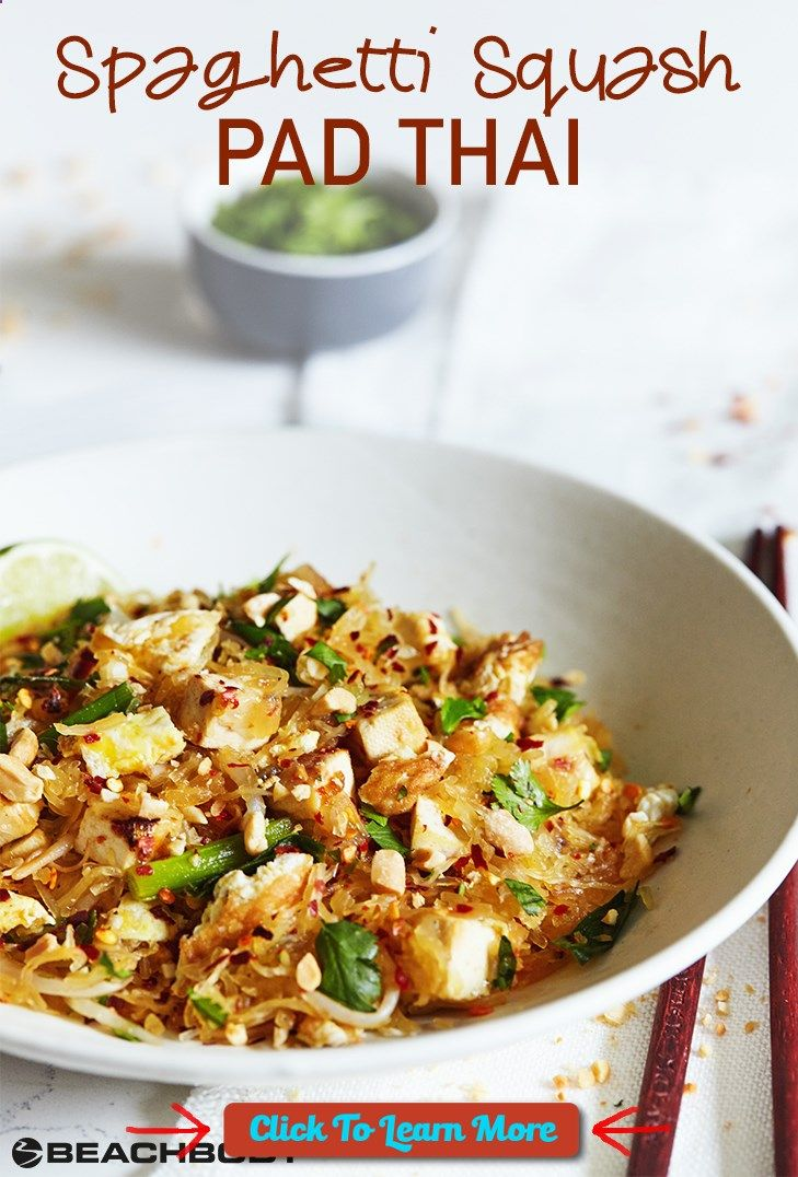 #FastestWayToLoseWeight by EATING, Click to learn more, We put a twist on this traditional dish, by swapping out noodles for spaghetti squash. It has all the same great flavors of Pad Thai, but it sneaks some extra veggies into the meal. Get the yummy recipe here! // healthy recipes // lunches // dinners // pad thai recipe // spaghetti squash pad thai // vegetarian // Beachbody // BeachbodyBlog.com , #HealthyRecipes, #FitnessRecipes, #BurnFatRecipes, #WeightLossRecipes, #WeightLossDie....