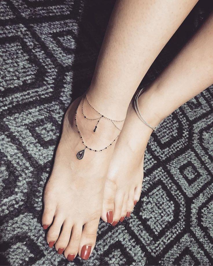 Anklet Tattoo Ideas | POPSUGAR Beauty UK