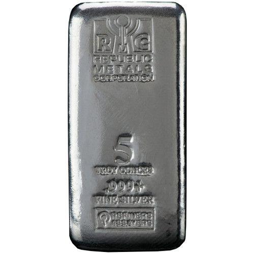5 oz RMC Cast Silver Bars from JM Bullion™