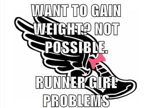 Like I loose weight from cross country and then I want to gain it back but still train and I can't!