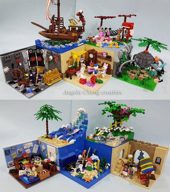 Open The Toy: LEGO Disney Minifigure MOC Display Bases
