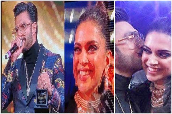 Ranveer Singh Dedicates Award To Deepika Says I Didn T Get Queen In The Film But In Real Life I Have Got My Queen Hungryboo Ranveer Singh Dedication Deepika Padukone