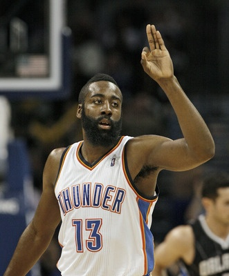 James Harden----Oklahoma City Thunder  Position: Shooting guard  Age: 22