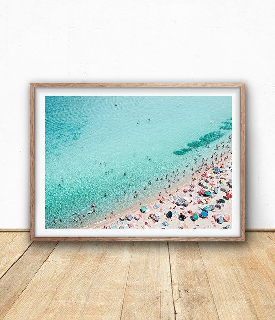 Beautiful and Bright Aerial Beach Photography Instant Download Printable File from Sisi&Seb at www.printablez.ca