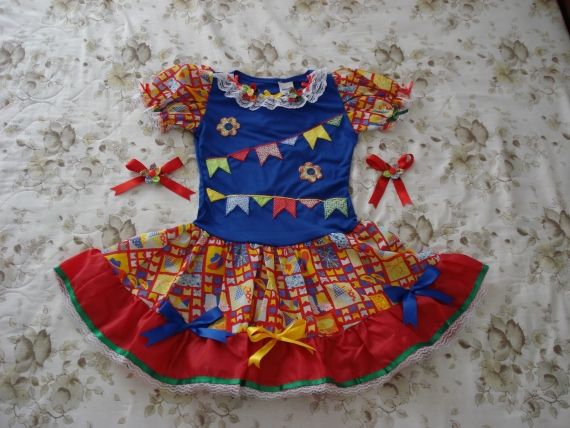 Customização de roupa infantil para festa junina