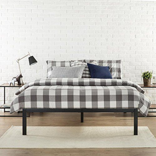 Zinus Modern Studio Platform 1500 Metal Bed Frame Mattress Foundation  Wooden Slat Support Queen Zinus http. Poster Zinus Grey Beds   makitaserviciopanama com