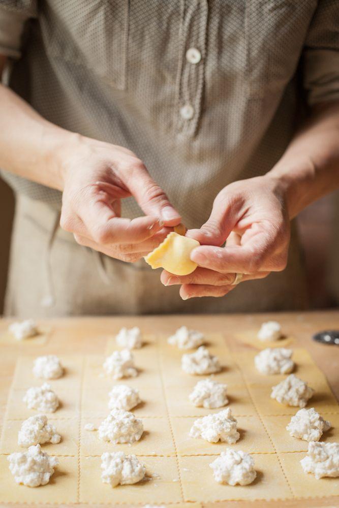 Tortelli di farro con ricotta e limone