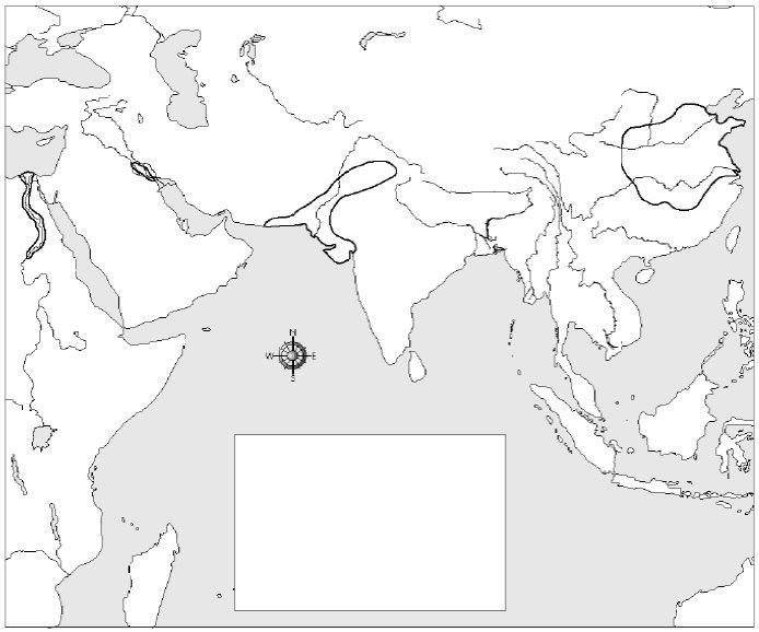 River Valley Civilizations Blank Map Map 3 River Valley