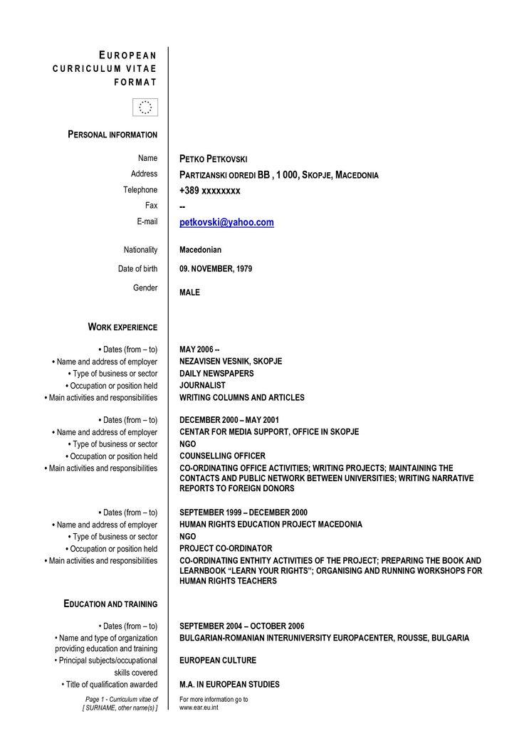 resume good format